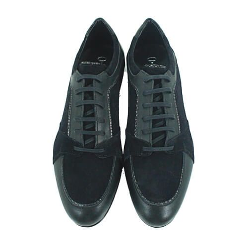 Cabrini Shoes Lace up Black Suede Top