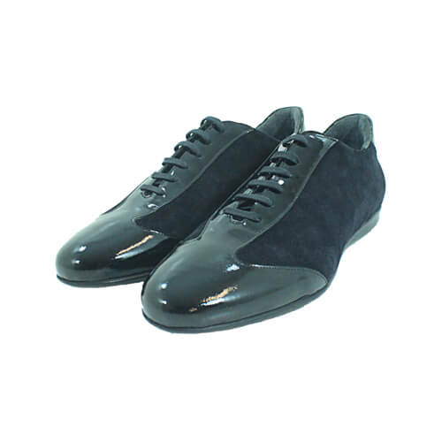 Cabrini Shoes Lace up Casual Black Front
