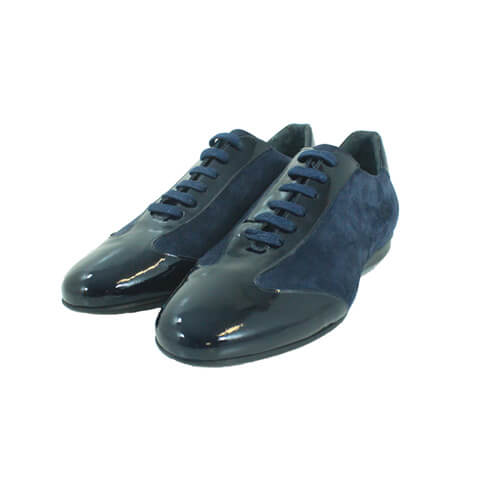 Cabrini Shoes Lace up Casual Navy Front