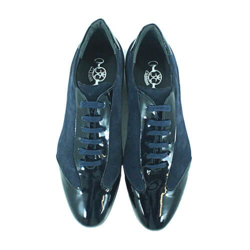 Cabrini Shoes Lace up Casual Navy Top