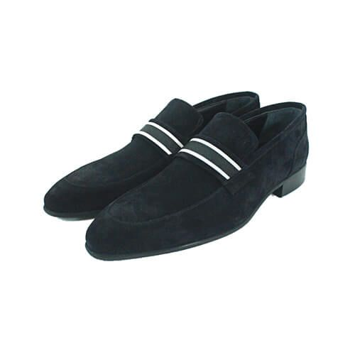Cabrini Shoes Formal Suede Black Front