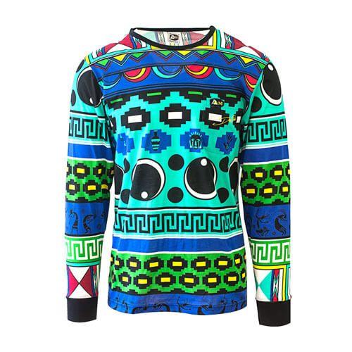 DMD Don Dada T-shirt African Print dmd signature range - DMD Signature Range Shirt Blue African Print