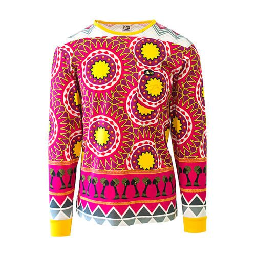 DDTS08FT Fashion Tribe dmd signature range - DMD Signature Range Shirt Tribal Print Pink