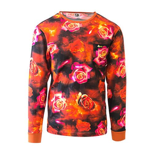 DDTS08RRG Red Roses Galaxy dmd signature range - DMD Signature Range Shirt Galaxy Rose Orange