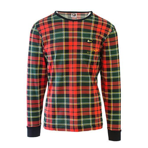 DMD Don Dada shirt red and green dmd signature range - DMD Signature Range Shirt Scotch Print Red
