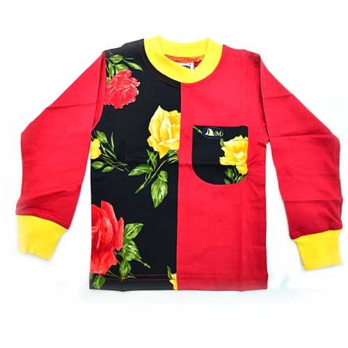 DMD Muracchini Linea Italiana South Africa dmd black roses long sleeve t shirt for kids - DMD Kids LS Tshirt Black Roses - DMD Black Roses Long Sleeve T Shirt For Kids