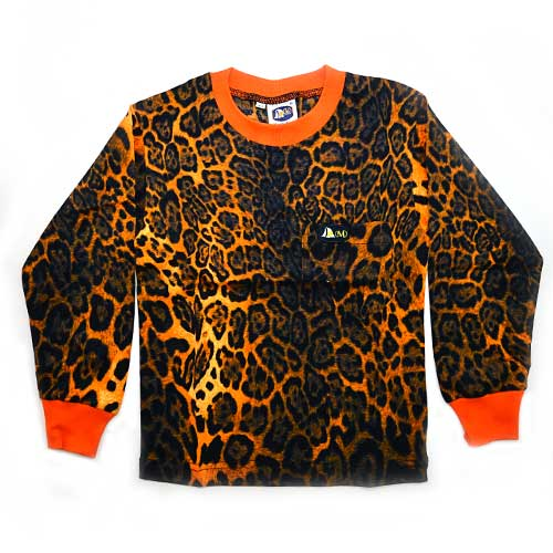 DMD Muracchini Linea Italiana South Africa dmd kids long sleeve t shirt orange coloured leopard print - DMD Kids Long Sleeve T Shirt Orange Coloured Leopard Print