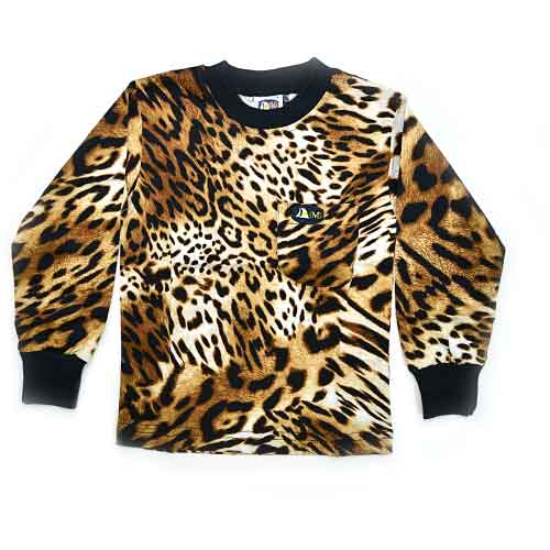DMD Muracchini Linea Italiana South Africa dmd kids leopard rusty long sleeve t shirt - DMD Kids LS Tshirt Leopard Rusty - DMD Kids Leopard Rusty Long Sleeve T Shirt