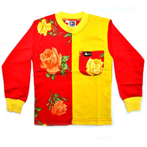DMD Muracchini Linea Italiana South Africa dmd kids long sleeve t shirt red roses - DMD Kids Long Sleeve T Shirt Red Roses