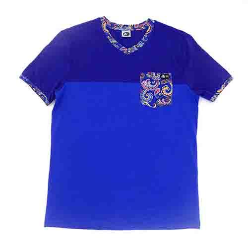 DMD Muracchini Linea Italiana South Africa dmd kids spandex henley ss tee blue - DMD Kids Spandex Henley SS Tee Blue