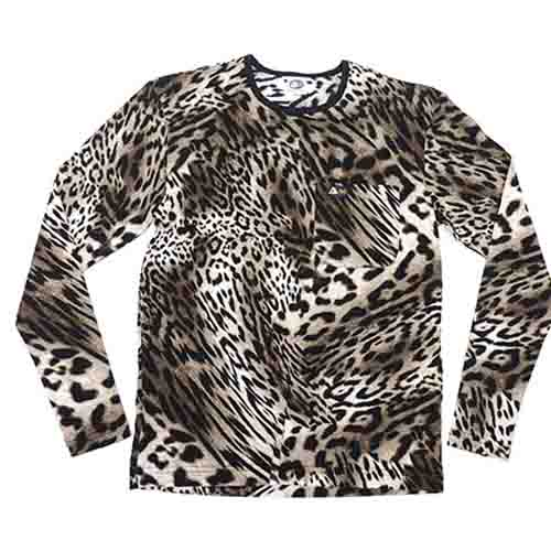 DMD Mens LS Full Regular Original Leopard Print dmd t-shirt - DMD T-Shirt Original Leopard Print