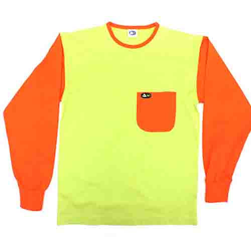 DMD Muracchini Linea Italiana South Africa dmd ls plain lime green with orange sleeve - DMD LS Plain Lime Green with Orange Sleeve