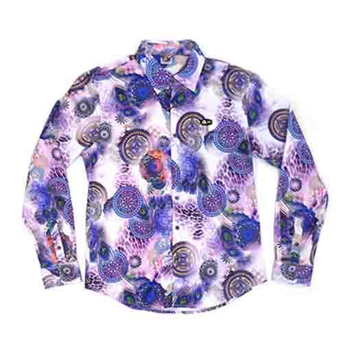 DMD Muracchini Linea Italiana South Africa dmd mens ls printed shirt purple - DMD Mens LS Printed Shirt Purple