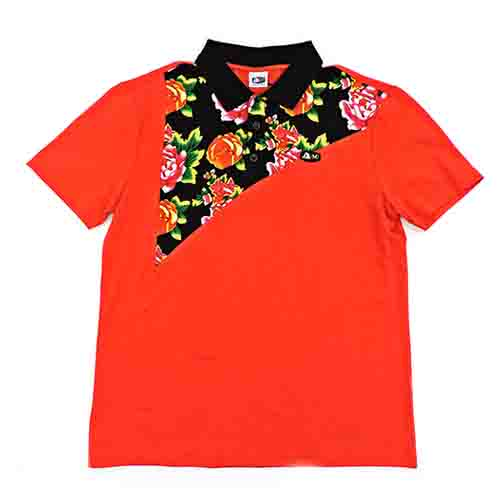 DMD Muracchini Linea Italiana South Africa dmd mens ss golfer red flower - DMD Mens SS Golfer Red Flower