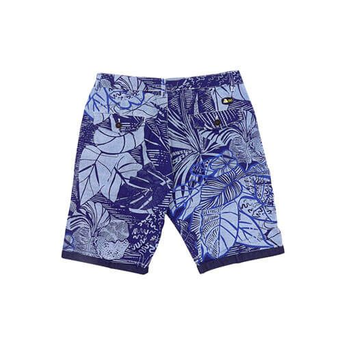 DMD Shorts Blue Floral Printed Back