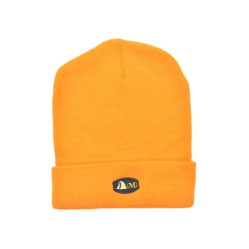 DMDB001OP DMD Beanie Orange Plain with Badge
