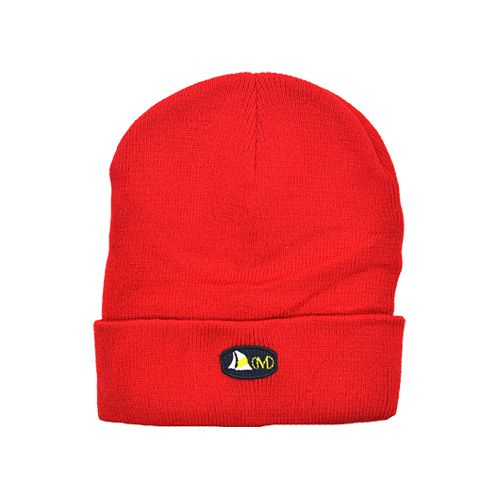 DMDB001RD DMD Beanie Red Plain with Badge