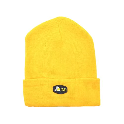 DMDB001YL DMD Beanie Yellow Plain with Badge