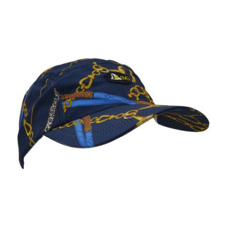 DMDC015NC DMD Nylon Cap Chain Print Navy Side e1526290932669 dmd nylon cap chain print navy - DMD Nylon Cap Chain Print Navy