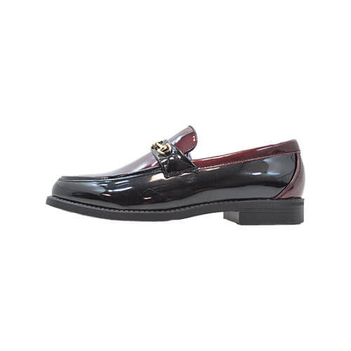 DMDD133BBM DMD Shoes Venice 4 Burgundy and Black Metallic Left