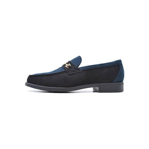 DMDD136NBS DMD Shoes Venice 4 Navy and Black Suede Right
