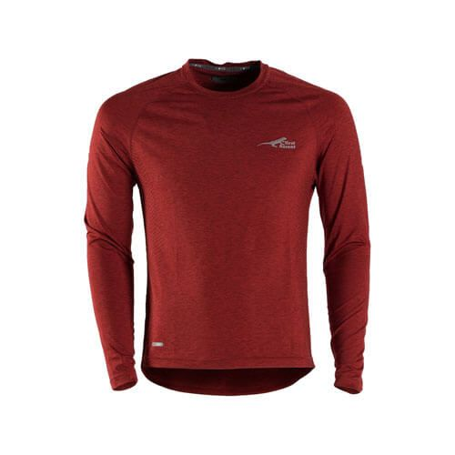DMDFA01BUR First Ascent Mens Fusion Top Burgundy first ascent fusion tshirt long sleeve burgundy - First Ascent Fusion Tshirt Long Sleeve Burgundy