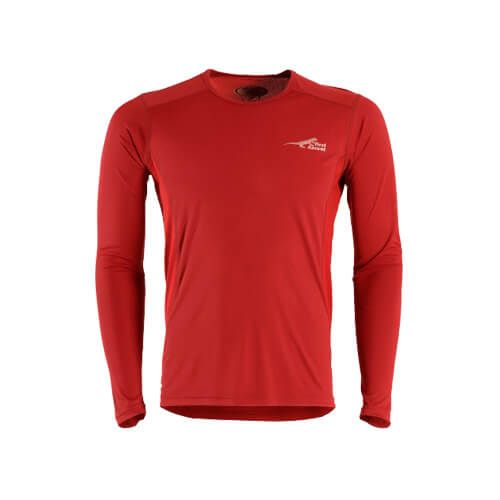 DMD Muracchini Linea Italiana South Africa first ascent corefit tshirt long sleeve red - First Ascent Corefit Tshirt Long Sleeve Red