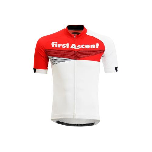first ascent mens breakaway jersey white - DMDFA04CT First Ascent Mens Breakaway Jersey Cherry Tomato - First Ascent Mens Breakaway Jersey White