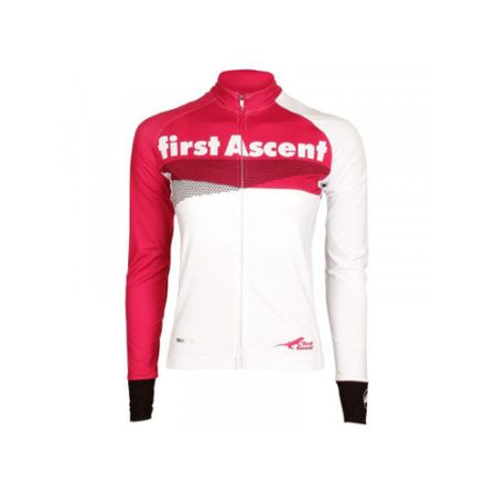 first ascent ladies long sleeve breakaway jersey white - First Ascent Ladies Long Sleeve Breakaway Jersey White