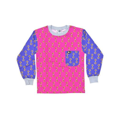 DMDKTS21CPS DMD Kids Shirt Cerise Purple Stirrup Print dmd kids shirt cerise purple stirrup print - DMD Kids Shirt Cerise Purple Stirrup Print