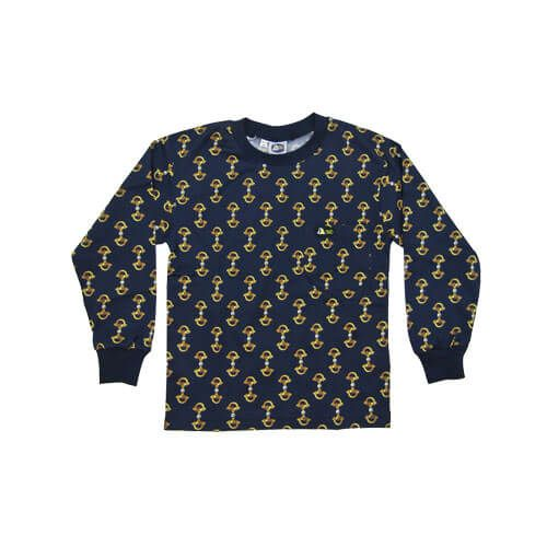 DMD Muracchini Linea Italiana South Africa dmd kids shirt navy stirrup print - DMD Kids Shirt Navy Stirrup Print