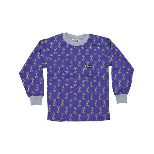 DMDKTS21PS DMD Kids Shirt Purple Stirrup Print dmd kids shirt purple stirrup print - DMD Kids Shirt Purple Stirrup Print