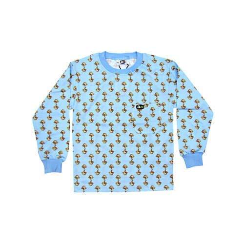 DMDKTS21SS DMD Kids Shirt Sky Blue Stirrup Print dmd kids shirt sky blue stirrup print - DMD Kids Shirt Sky Blue Stirrup Print