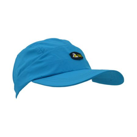 DMDNC01T DMD Nylon Cap Plain Turquoise with Badge Side e1526290180542