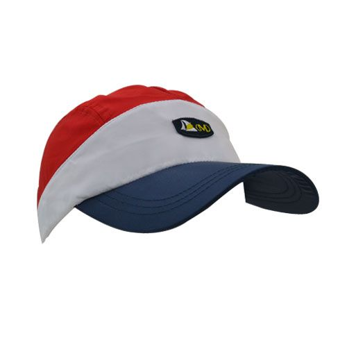 DMDNC02RWN DMD Nylon Cap Three Toned Red white Navy Side dmd nylon cap three toned red white navy - DMD Nylon Cap Three Toned Red White Navy