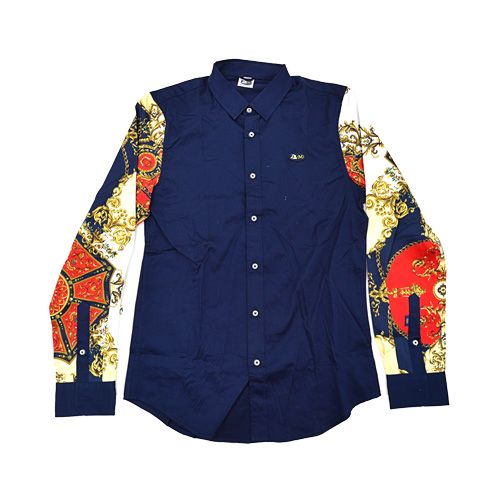 DMD Muracchini Linea Italiana South Africa dmd shirt long sleeve cut and sew navy - DMD Shirt Long Sleeve Cut and Sew Navy