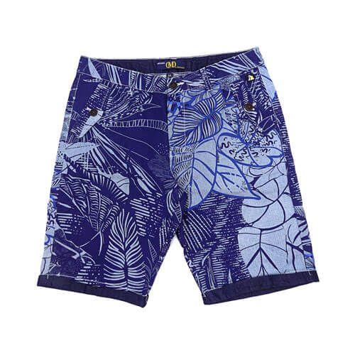 DMD Muracchini Shorts Blue Floral Printed dmd shorts - DMD Shorts Blue Floral Printed