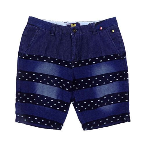 DMD Muracchini Shorts Blue Printed Stripes dmd shorts - DMD Shorts Blue Printed Stripes