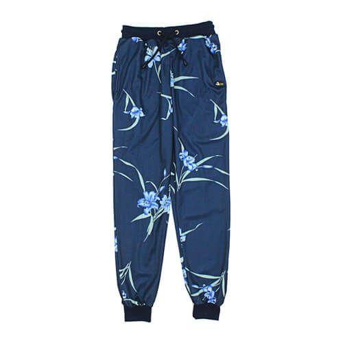 DMD Muracchini Summer Tracksuit Pants Floral Navy