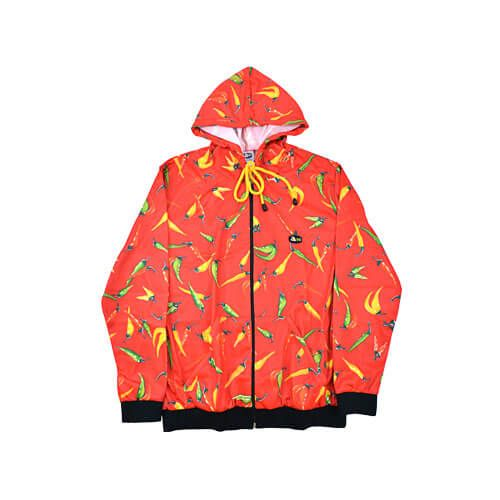 DMDTRS001RC DMD Tracksuit Top Red Chili Print dmd summer tracksuit - DMD Summer Tracksuit Red Chilli Print
