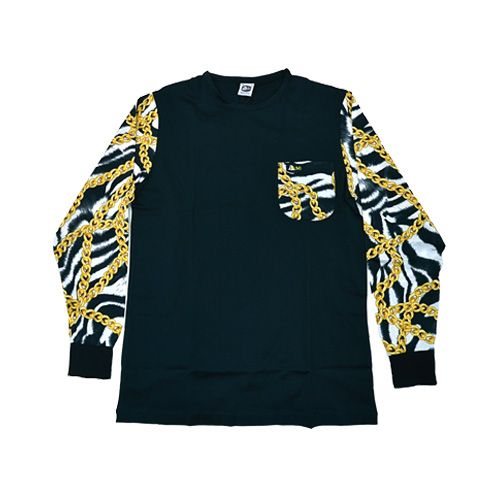 DMD Muracchini Linea Italiana South Africa dmd long sleeve shirt black zebra and chain link print - DMDTS03NZCB DMD Long Sleeve Shirt Black Zebra and Chain Link Print - DMD Long Sleeve Shirt Black Zebra and Chain Link Print