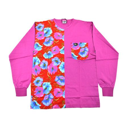 DMD Muracchini Linea Italiana South Africa dmd pink shirt with a half floral print - DMD Pink Shirt with a Half Floral Print