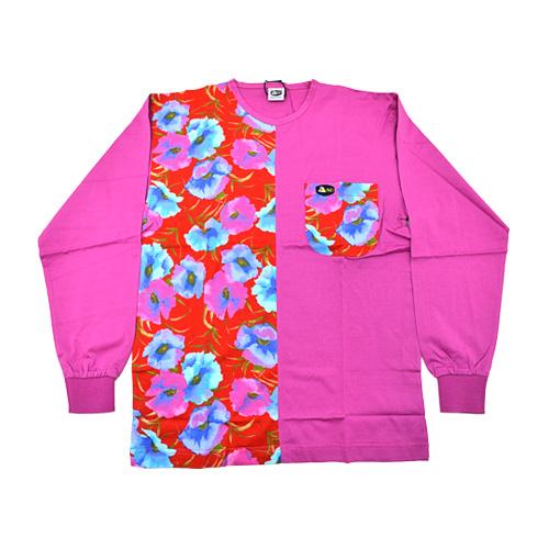 DMD Muracchini Linea Italiana South Africa dmd pink shirt with a half floral print - DMDTS03PR Full Regular Pink Rose Print Shirt - DMD Pink Shirt with a Half Floral Print