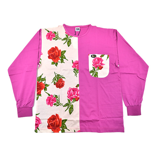 DMD Muracchini Linea Italiana South Africa dmd shirt half rose print pink - DMDTS03WRP DMD Shirt Half Rose Print Half Plain Pink - DMD Shirt Half Rose Print Pink