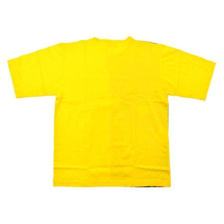 DMDTS07BRY DMD Tshirt Half Print Half Plain Yellow Back e1523005908414