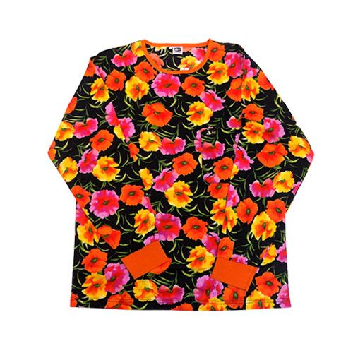 DMD Muracchini Linea Italiana South Africa full regular long sleeve black and orange shirt floral - Full Regular Long Sleeve Black and Orange shirt Floral