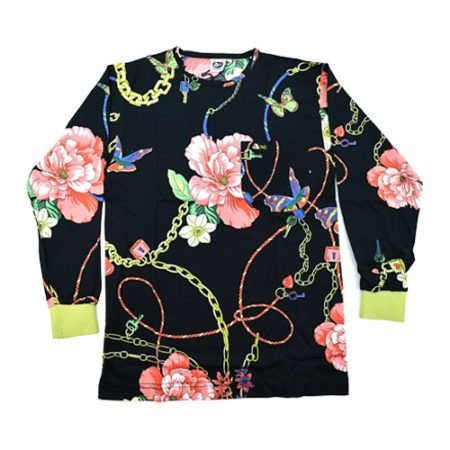 DMD Muracchini Linea Italiana South Africa regular black rose and chain print shirt - DMDTS08BHC Regular Black Rose and Chain Print Shirt e1523006356838 - Regular Black Rose and Chain Print Shirt