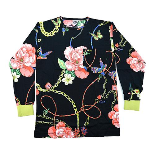 DMD Muracchini Linea Italiana South Africa regular black rose and chain print shirt - DMDTS08BHC Regular Black Rose and Chain Print Shirt - Regular Black Rose and Chain Print Shirt