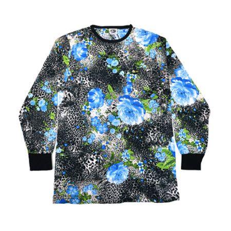 DMDTS08BLR Full Regular Floral Print Shirt e1523006336134 dmd t-shirt - DMD T-Shirt Regular Blue Leopard Print