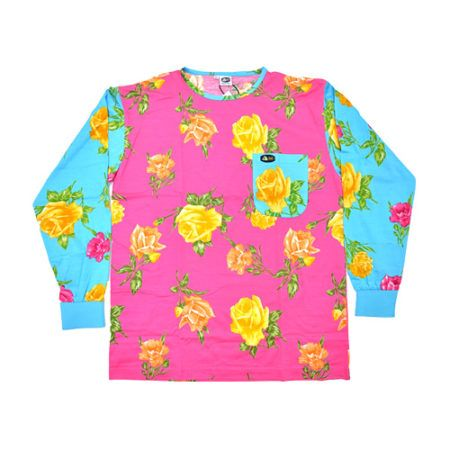 DMD Muracchini Linea Italiana South Africa dmd shirt crazy roses pink and turquoise print - DMD Shirt Crazy Roses Pink and Turquoise Print